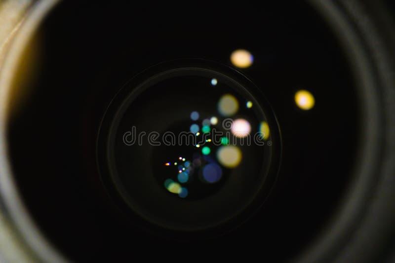 透镜反射火光  免版税库存图片