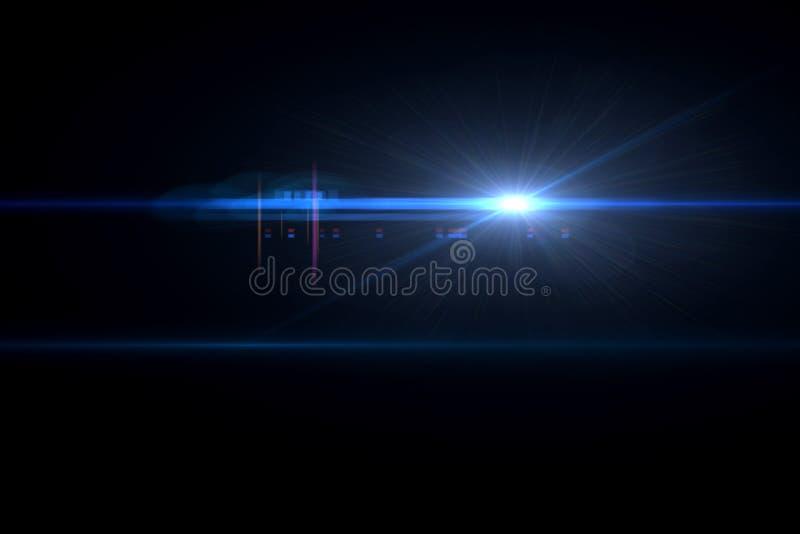 透镜火光作用 免版税库存图片