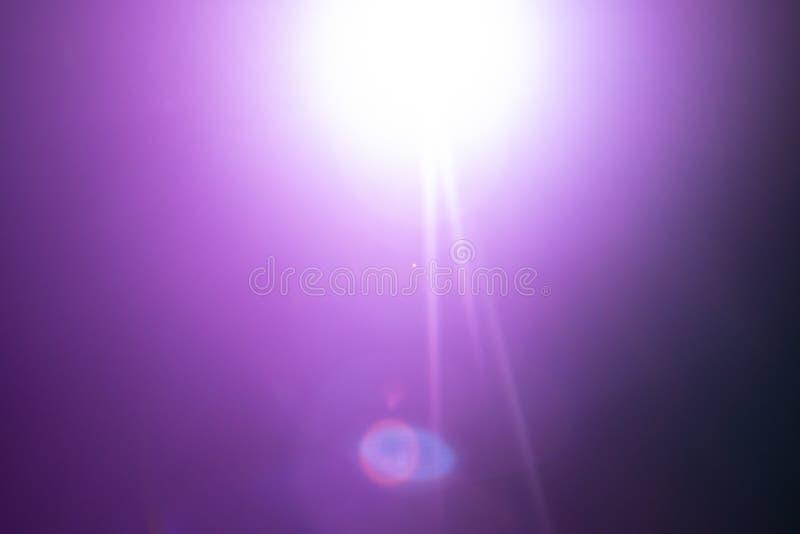 透镜火光和bokeh光线影响,抽象纹理背景 免版税库存照片