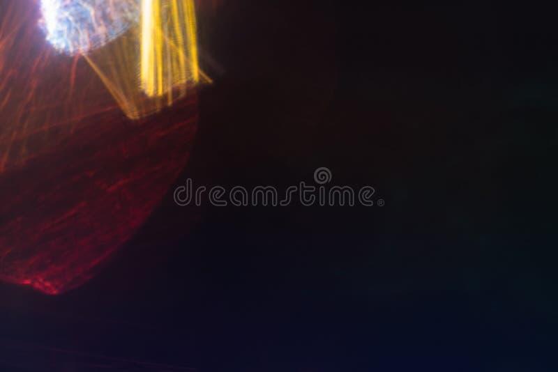 透镜火光斑点迷离抽象背景 免版税库存照片