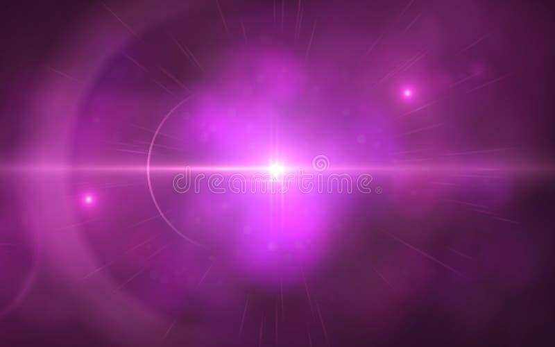 透镜火光的美好的抽象图象与黑色的 向量例证