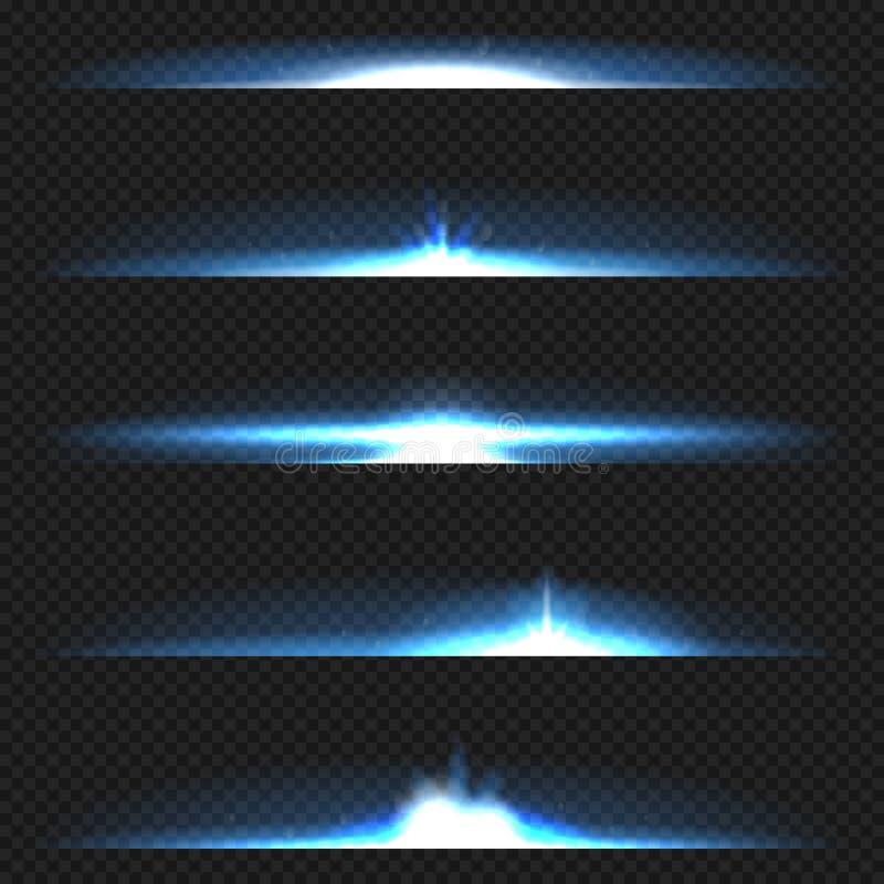 透镜火光集合 向量例证