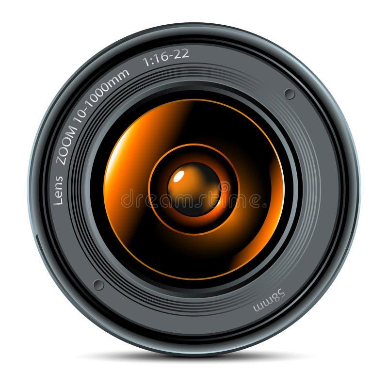 透镜照片 皇族释放例证
