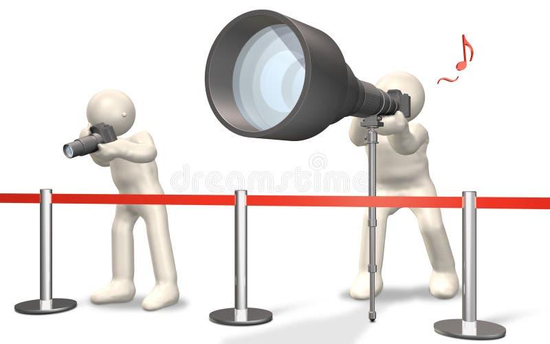 透镜超级远距照相 向量例证