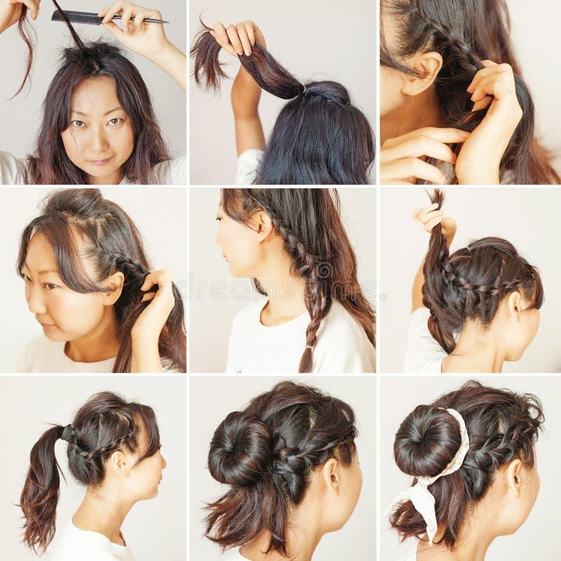 逐步的发型想法 图库摄影