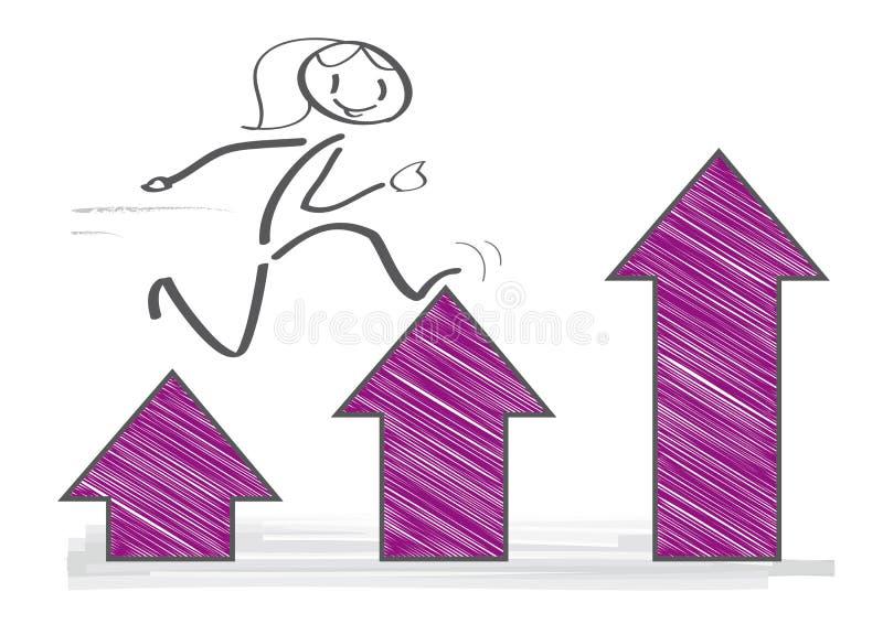 逐步达到目标 领导概念 库存例证