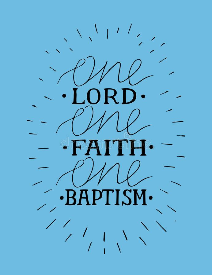 递与圣经诗歌一阁下的字法,信念,洗礼 皇族释放例证