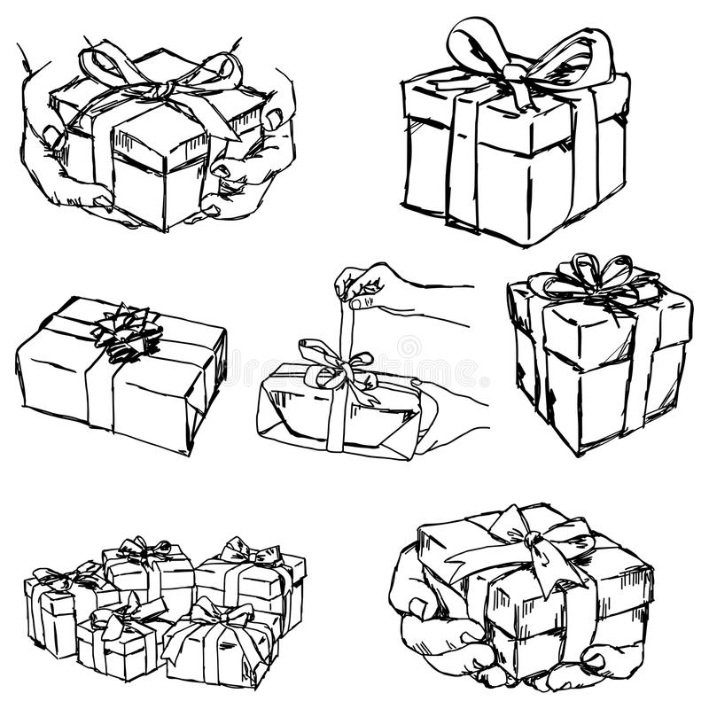 递举行的或提供的礼物或提出-导航例证s 向量例证