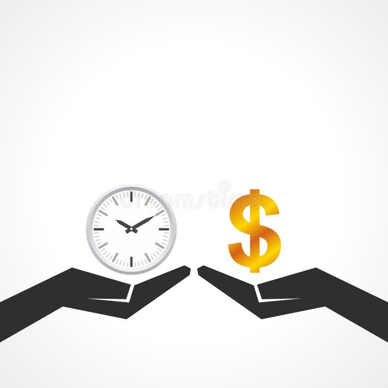 递举行金钱和时间比较他们的价值 皇族释放例证