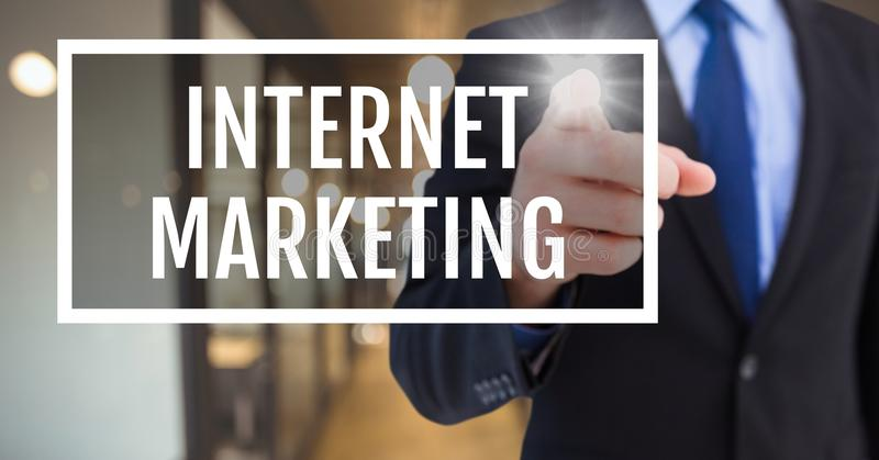 递互动与互联网营销企业文本反对被弄脏的背景 库存照片