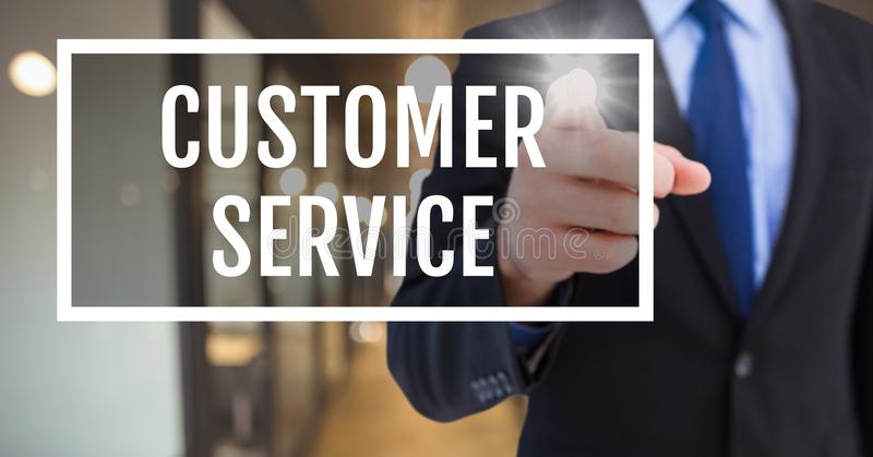 递互动与顾客服务企业文本反对被弄脏的背景 图库摄影