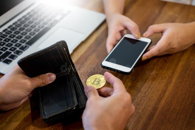 递交换金黄金属Bitcoin隐藏货币投资s 库存照片