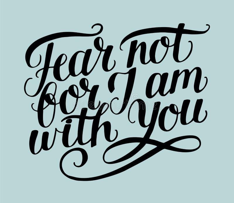 递充满圣经诗歌恐惧的与您的字法没有,为了J上午 向量例证
