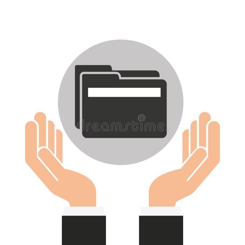 递商人数据文件夹文件 向量例证