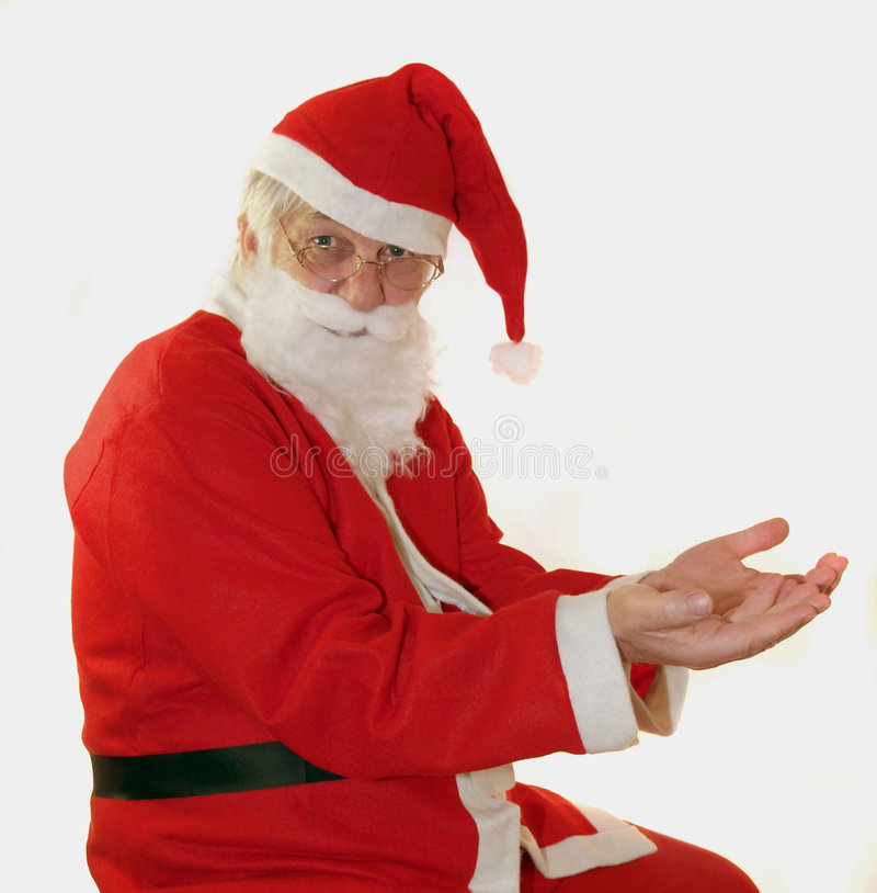 递圣诞老人 免版税图库摄影