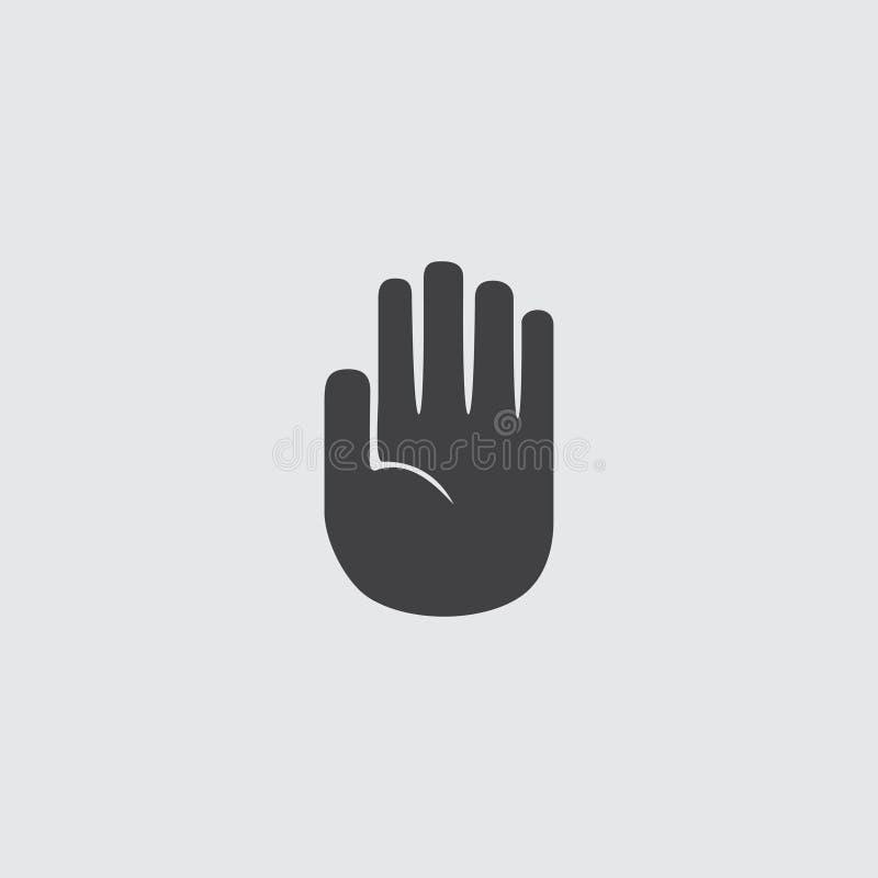 递在一个平的设计的中止象在一种黑颜色 皇族释放例证