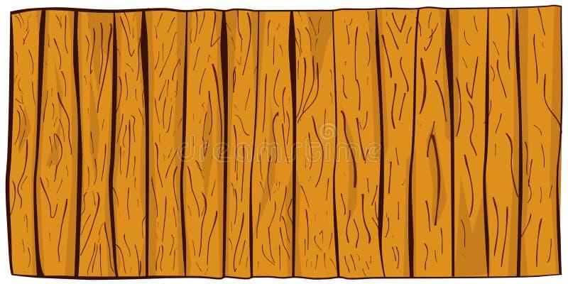 递垂直的木地板或墙壁凹道剪影  库存例证