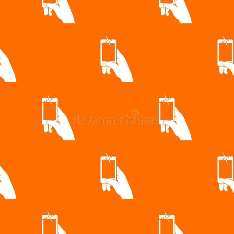 递拍在无缝手机的样式的照片 皇族释放例证
