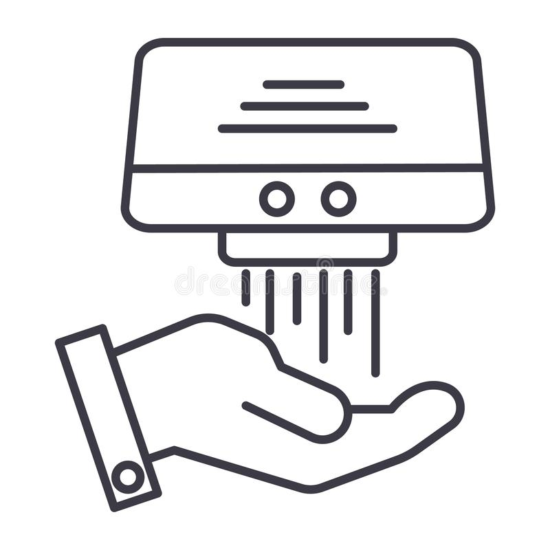 递更加干燥的传染媒介线象,标志,在背景,编辑可能的冲程的例证 库存例证