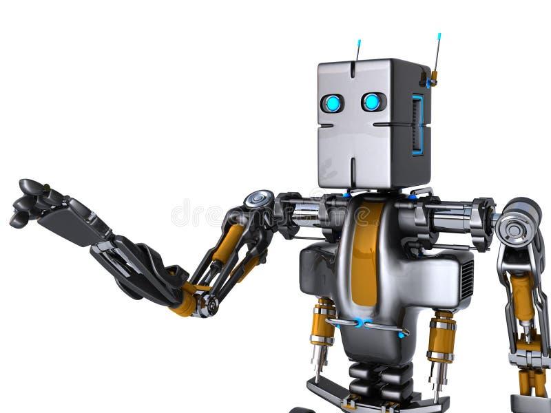 递机器人 皇族释放例证