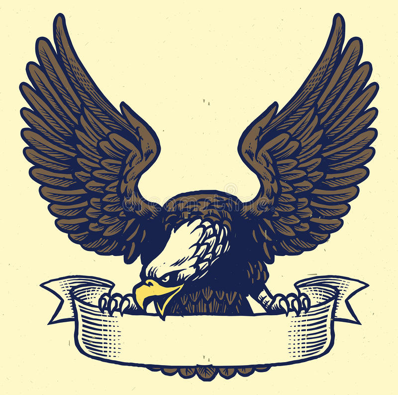 递老鹰夹子图画样式丝带 向量例证