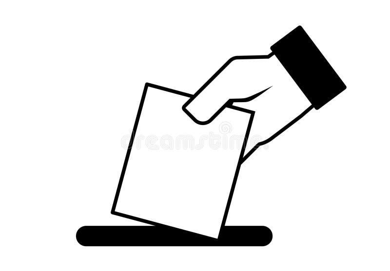 递表决,公民投票,竞选,政治 库存例证
