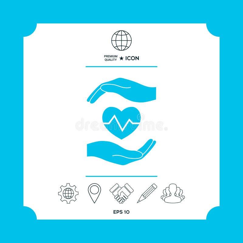 递重点藏品 黑色更改图标肝脏医疗保护白色 皇族释放例证
