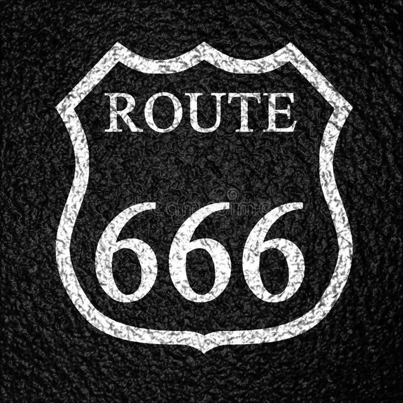 途径666 库存例证