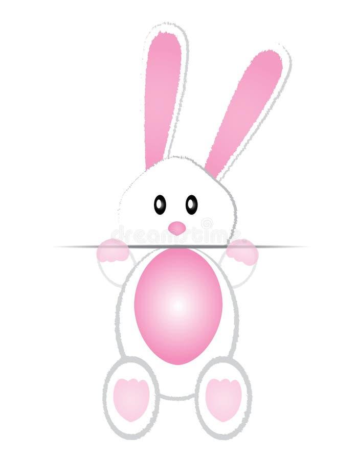 逗人喜爱兔宝宝的看板卡 皇族释放例证