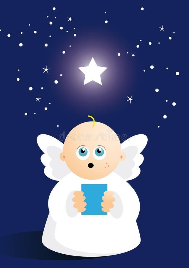 逗人喜爱天使唱歌 库存例证