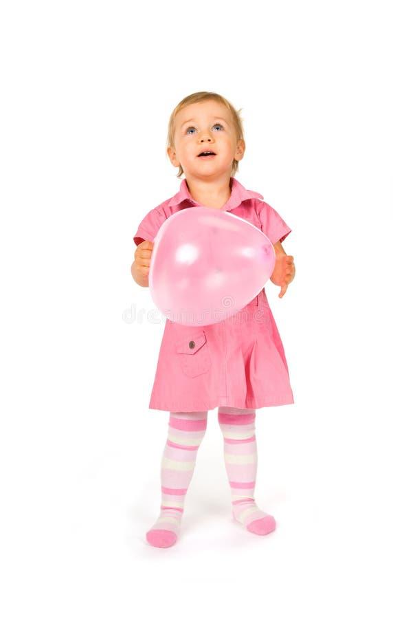 逗人喜爱婴孩的轻快优雅 免版税图库摄影