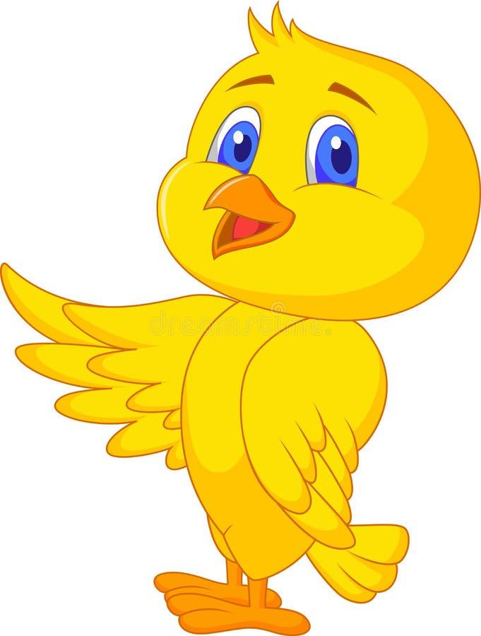 逗人喜爱的幼鸟动画片 库存例证