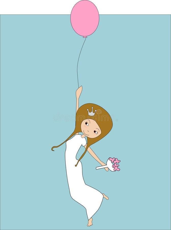 逗人喜爱新娘的动画片 库存例证