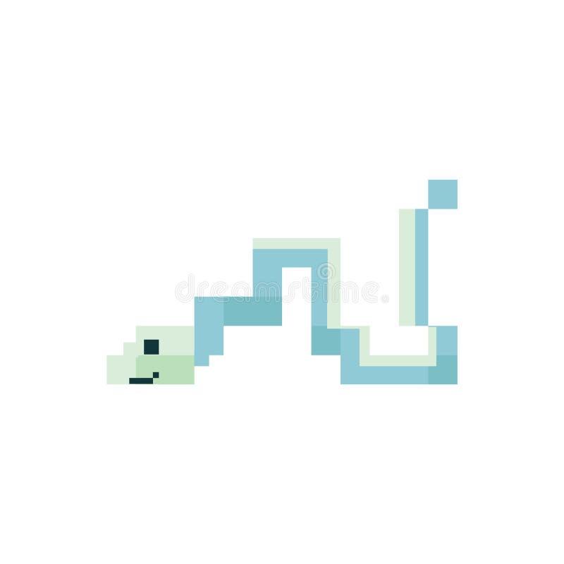 逗人喜爱新薄菏绿色8被咬住的丝带鳗鱼传染媒介例证 Sealife映象点clipart 皇族释放例证