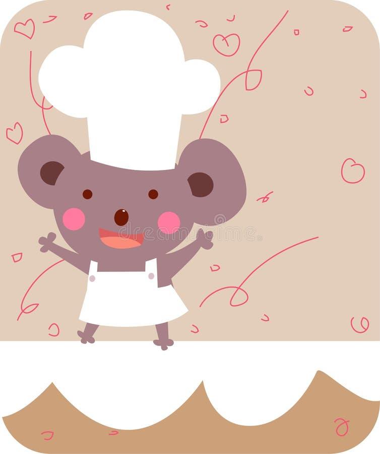 逗人喜爱熊的主厨 向量例证