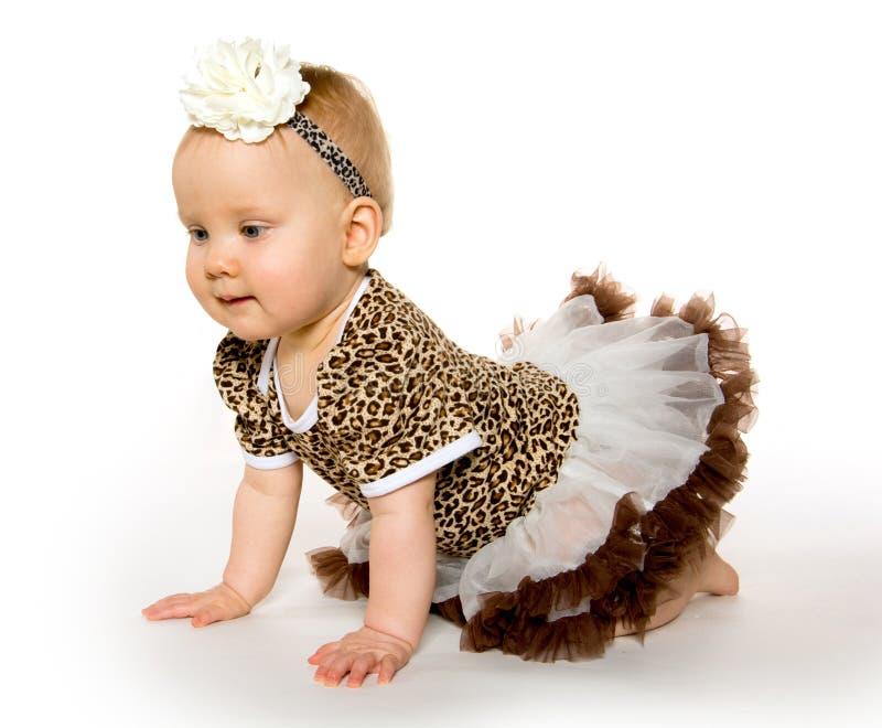 逗人喜爱的一岁的女婴 免版税库存照片