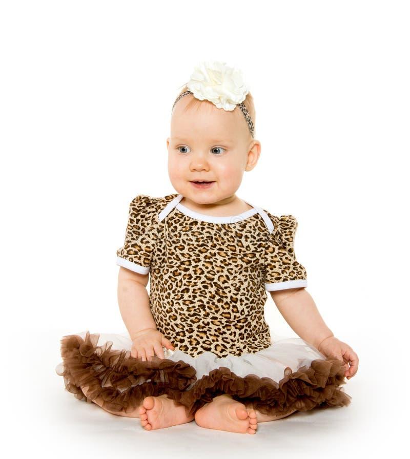 逗人喜爱的一岁的女婴 库存图片