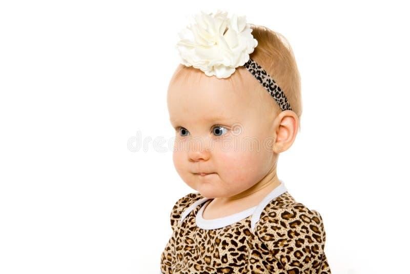 逗人喜爱的一岁的女婴 免版税图库摄影