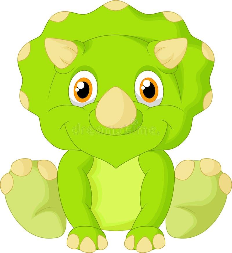 逗人喜爱的三角恐龙动画片 皇族释放例证