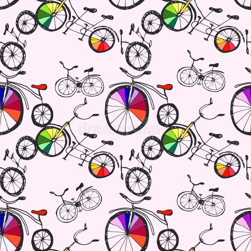 Download 逗人喜爱的乱画自行车 向量例证. 插画 包括有 艺术, 分级显示, 波斯菊, 现有量, 例证, 收集, 杂文 - 62531934