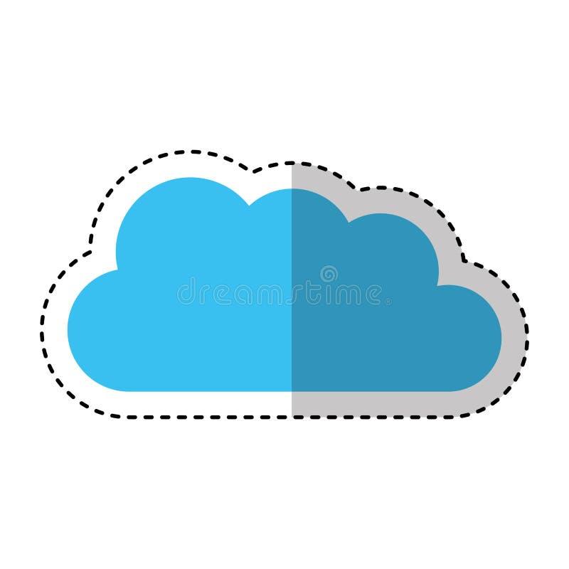 逗人喜爱的云彩被隔绝的象 向量例证