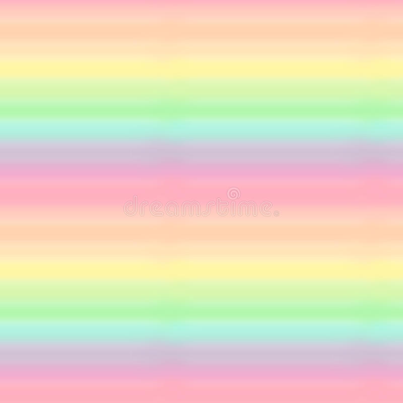 逗人喜爱的五颜六色的淡色彩虹无缝的样式背景例证 库存例证