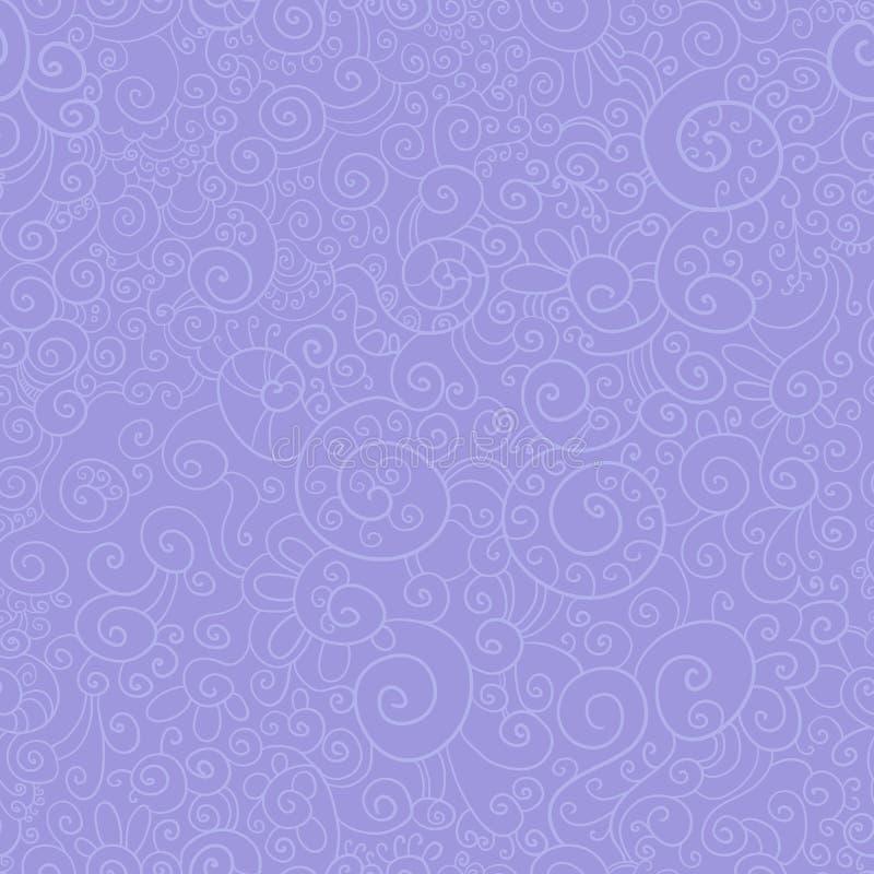 逗人喜爱的从蔓藤花纹的样式无缝的紫色邀请的,文凭,证明,明信片横幅 蓝色云彩图象彩虹天空向量 库存例证
