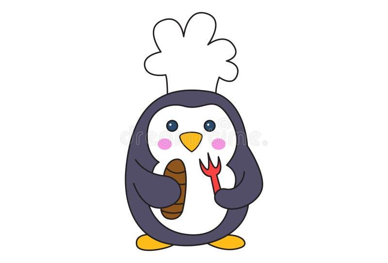 逗人喜爱的企鹅的动画片例证 皇族释放例证