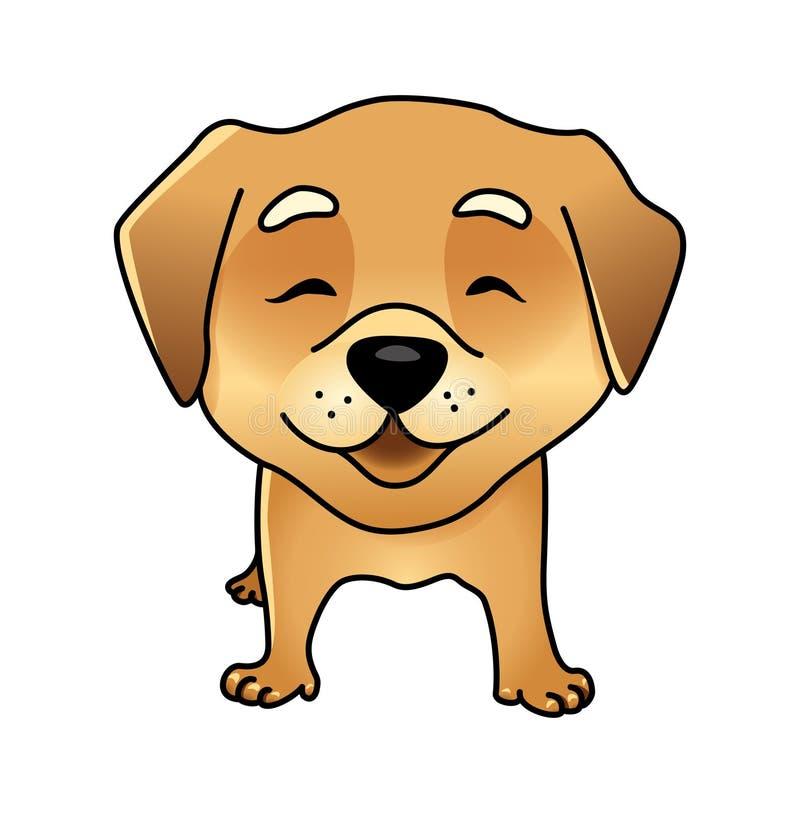 逗人喜爱的传染媒介愉快的狗 皇族释放例证