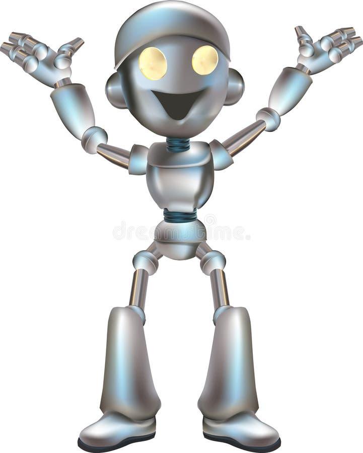 逗人喜爱的例证机器人 向量例证