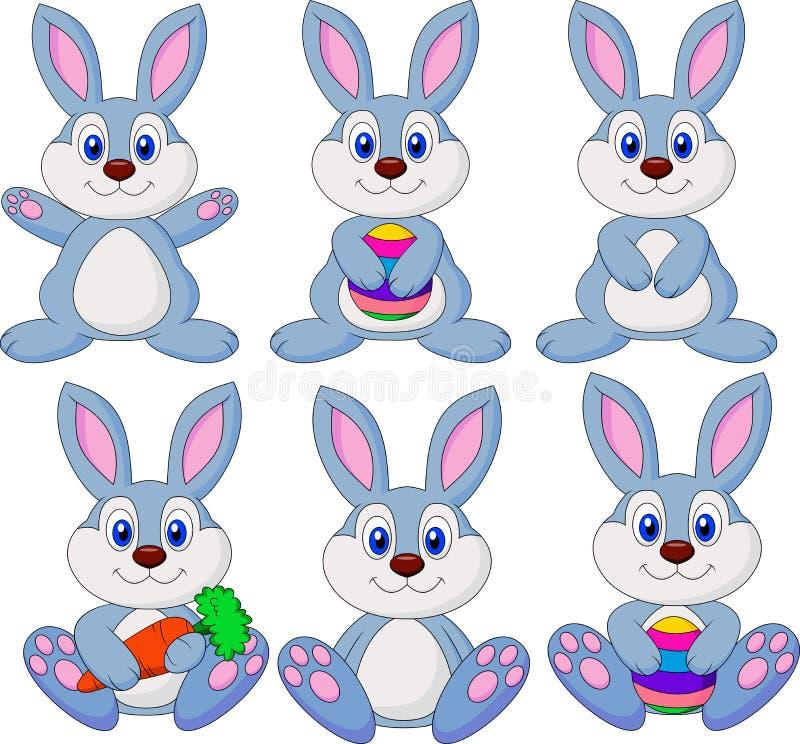 逗人喜爱的兔子动画片集合 皇族释放例证