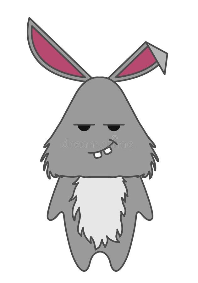 逗人喜爱的兔子卡通人物 动物传染媒介illustrtation 向量例证