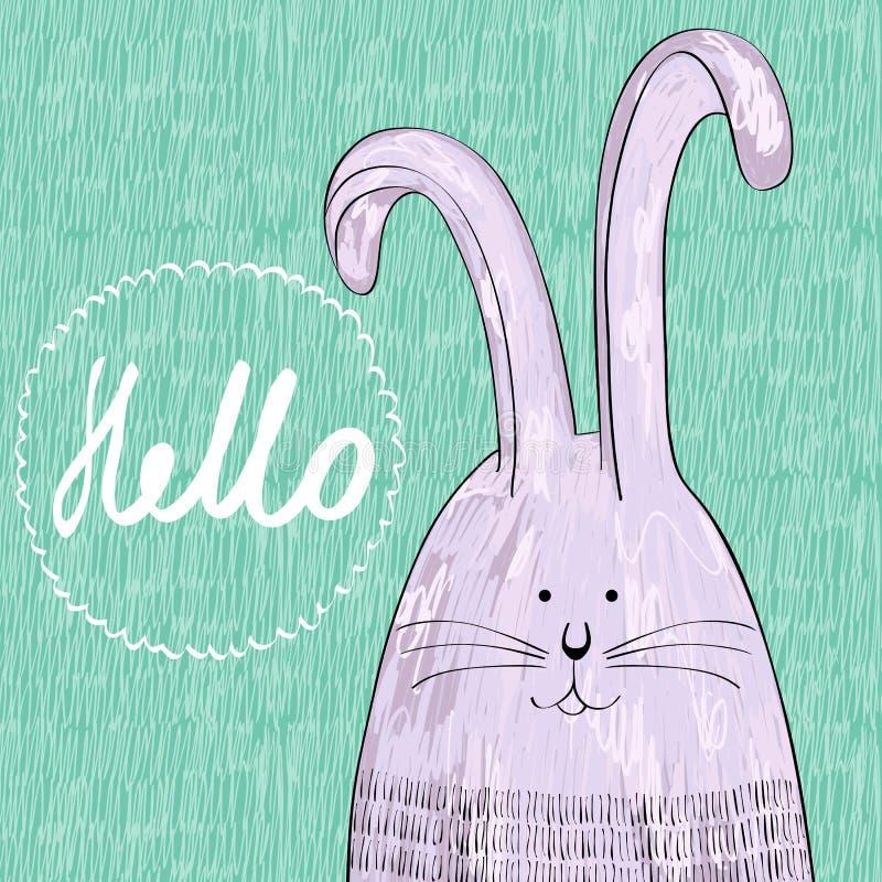 逗人喜爱的兔子向量 向量例证