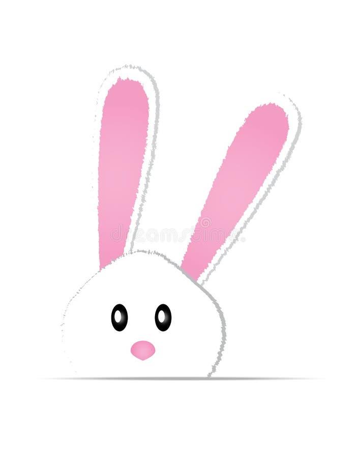 逗人喜爱的兔宝宝卡片复活节天 皇族释放例证